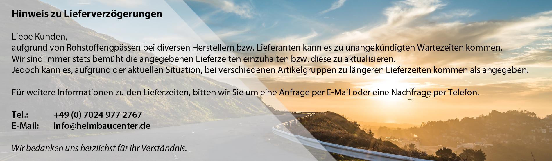 Lieferhinweis
